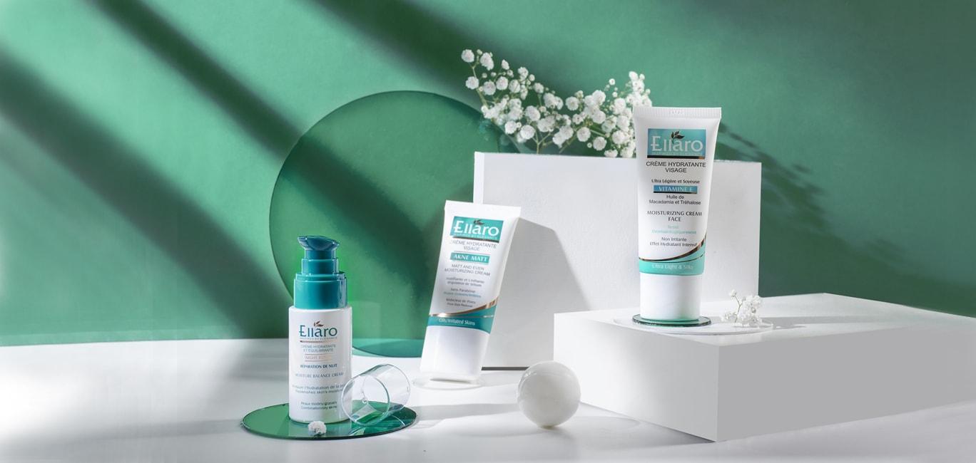 محصولات مرطوب کننده پوست چرب الارو