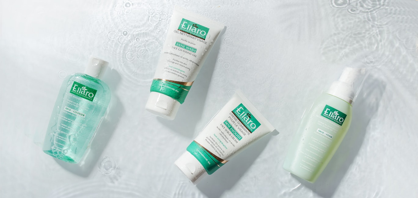 محصولات پاک کننده پوست چرب الارو