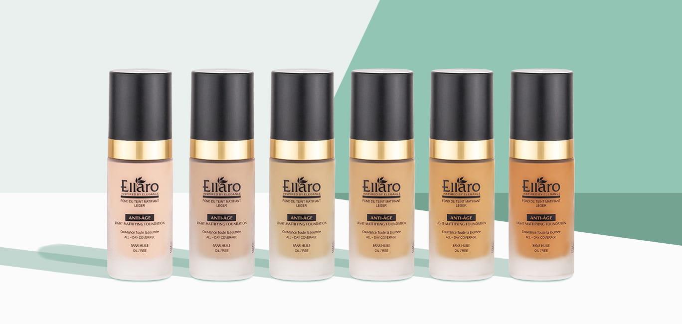 کرم پودر الارو آنتی ایج ؛ Ellaro Foundation Cream